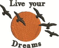 Birds In The Sun embroidery design
