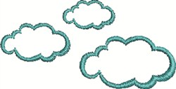 Cloud Outline embroidery design