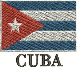 Cuban Flag embroidery design