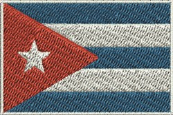 Cuban Flag embroidery design