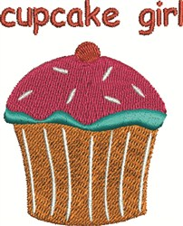 Cupcake Girl embroidery design