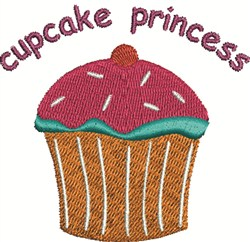 Cupcake Princess embroidery design