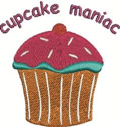 Cupcake Maniac embroidery design
