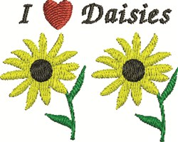 I Love Daisies embroidery design