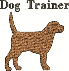 Dog Trainer embroidery design