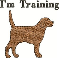 Im Training embroidery design