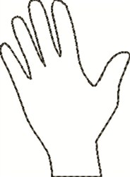 Hand Outline embroidery design