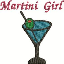 Martini Girl embroidery design