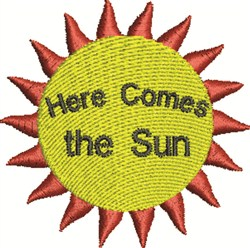 Here Comes The Sun embroidery design