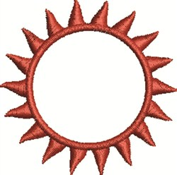 Sun Flares embroidery design