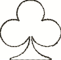 Club  Outline embroidery design