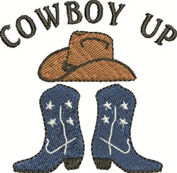 Cowboy Hat & Boots embroidery design