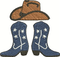 Hat and Boots embroidery design