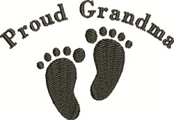 Footprints For Grandma embroidery design