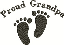 Footprints For Grandpa embroidery design