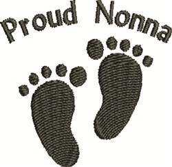 Footprints For Nonna embroidery design