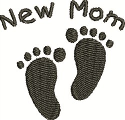 New Mom Footprints embroidery design