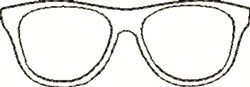 Outline Glasses embroidery design