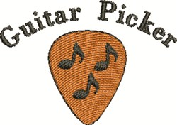 Guitar Pick embroidery design