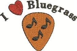 Love Bluegrass embroidery design