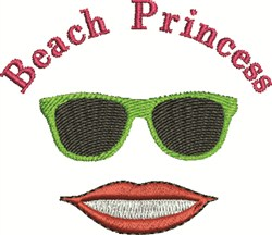 Beach Princess embroidery design