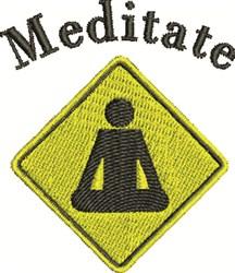 Meditation Sign embroidery design