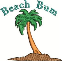 Beach Bum Tree embroidery design