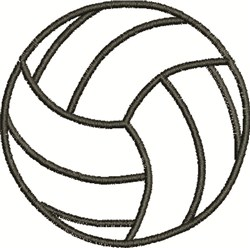 Volleyball Outline embroidery design