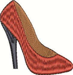 Womens Shoe embroidery design