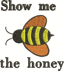 The Honey embroidery design