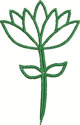 Blossom Outline embroidery design