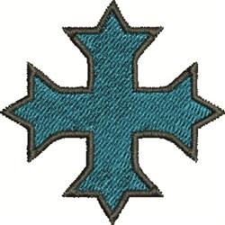 Blue Cross embroidery design