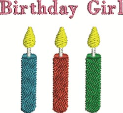 Birthday Girl embroidery design
