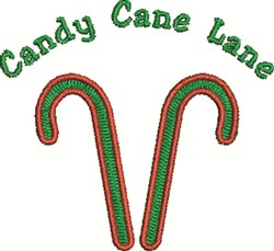 Candy Cane Lane embroidery design