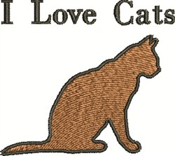 Love Cats embroidery design