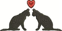 Cat Love embroidery design