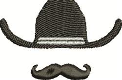 Cowboy Mustache embroidery design