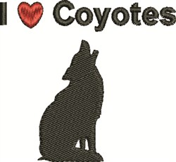 Love Coyotes embroidery design