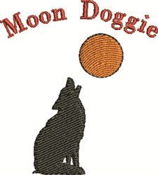 Moon Doggie embroidery design