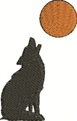 Coyote And Moon embroidery design