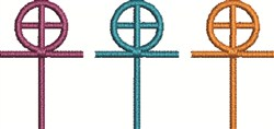 Cross and Circle embroidery design