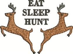 Eat Sleep Hunt embroidery design