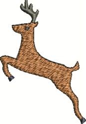 Deer Jump embroidery design
