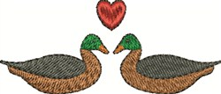 Love Ducks embroidery design