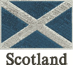 Flag of Scotland embroidery design