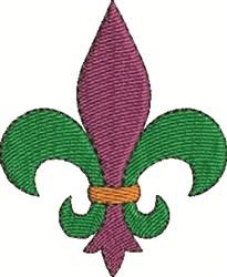 Colorful Fleur De Lis embroidery design