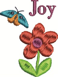 Joy Butterfly embroidery design