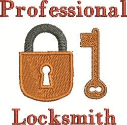 Professional Locksmith embroidery design