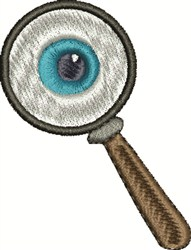 Magnifying Eye embroidery design