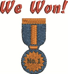 We Won embroidery design